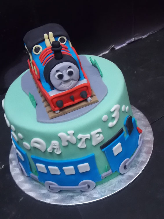 Thomas the Tank themed custom cake