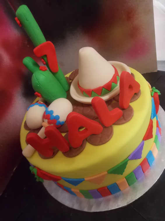 Mexican themed birthday cake