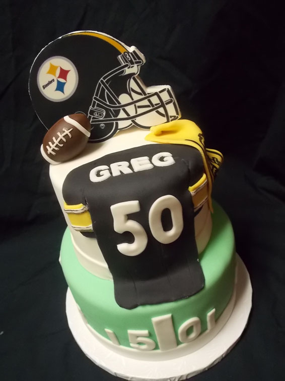 Football themed custom cake