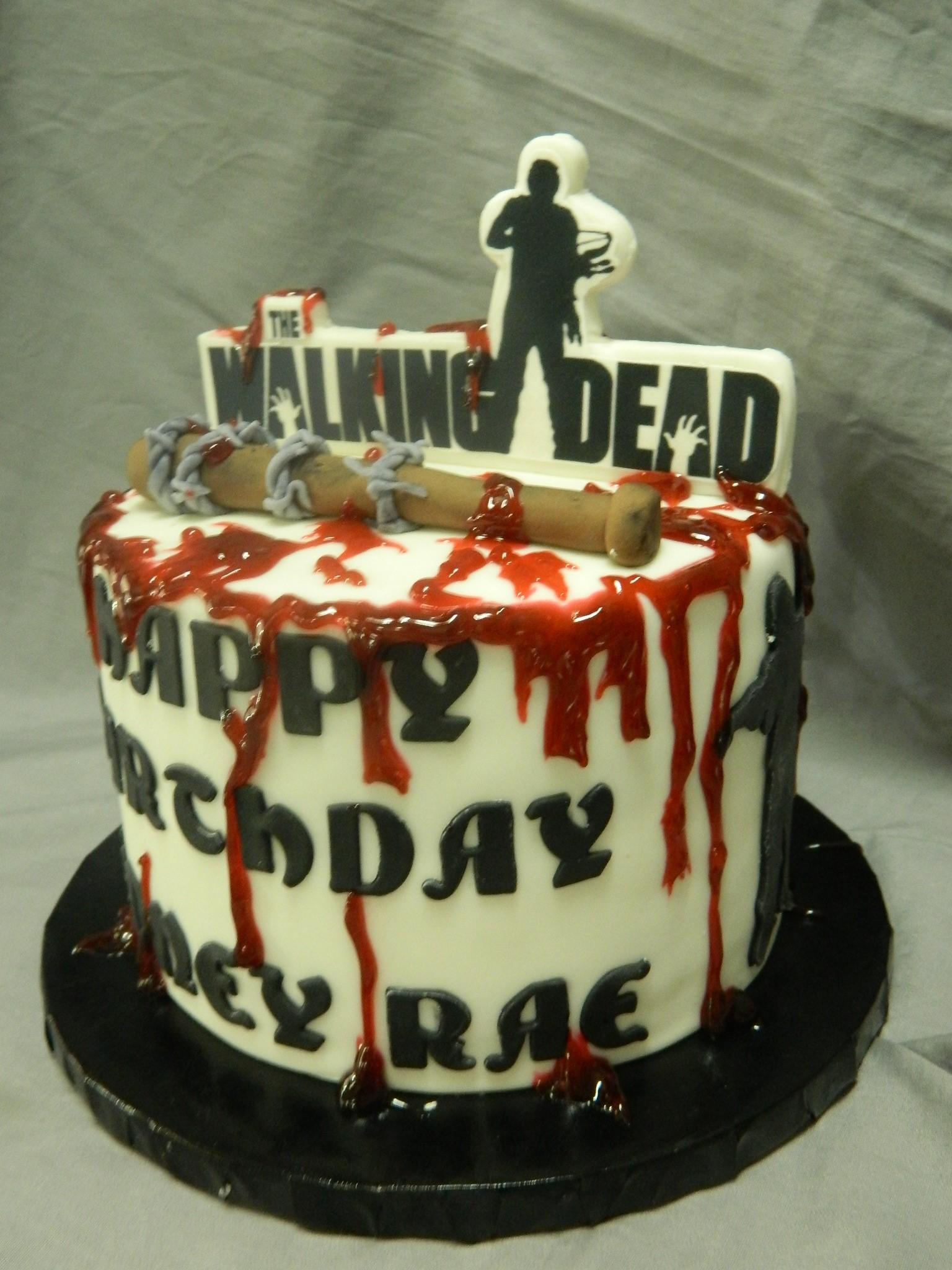 Walking Dead Themed Custom Cake Hey Cupcake