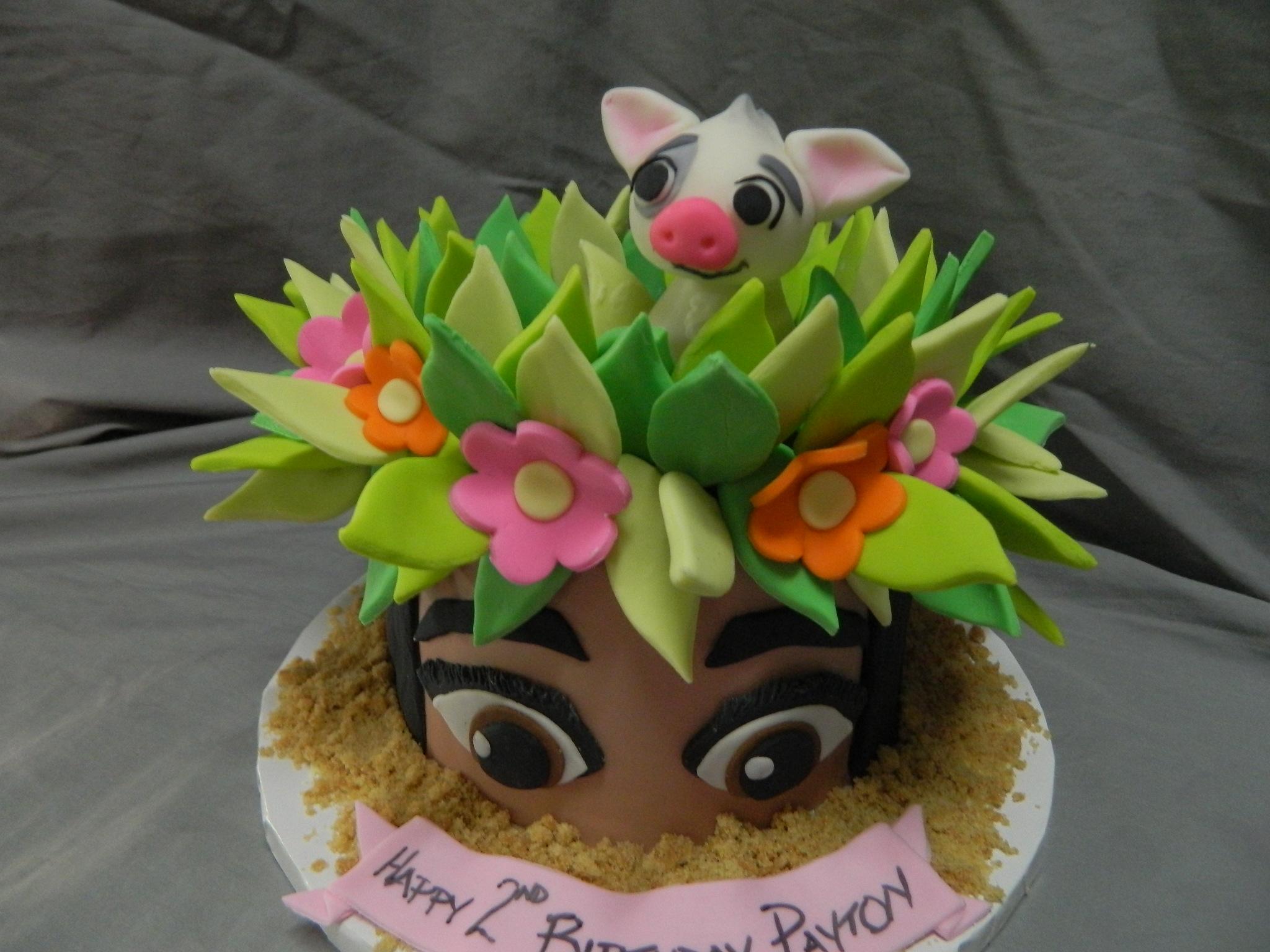 Moana Themed Custom Birthday Cake Hey Cupcake