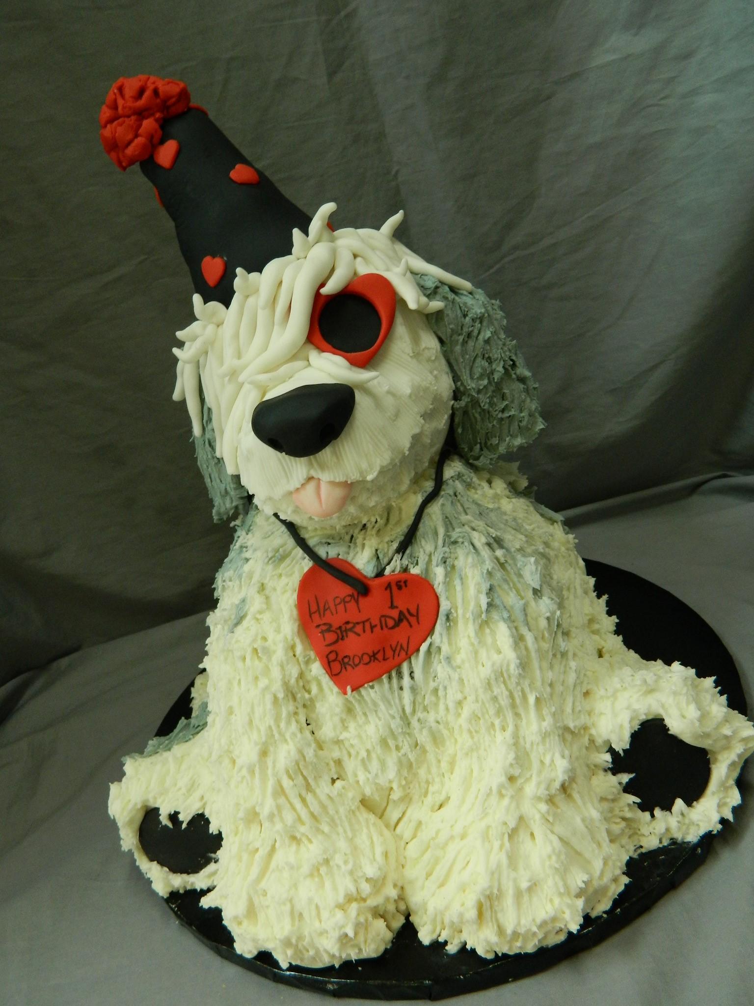 Birthday Puppy Themed Custom 1st Birthday Cake Hey Cupcake