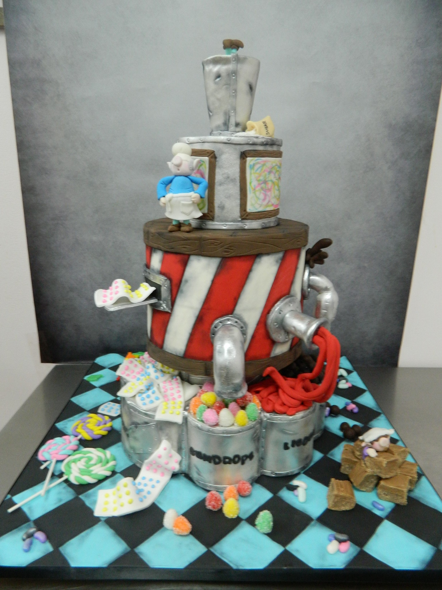 Candy Factory themed custom (competition) cake
