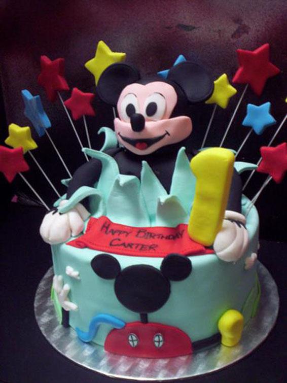 Mickey Mouse Birthday Cake Hey Cupcake