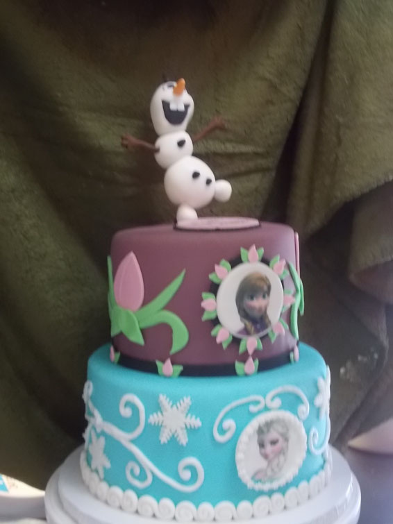 Frozen themed custom cake