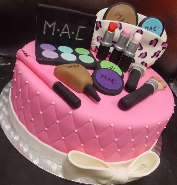 MAC makeup themed custom cake - Hey, Cupcake!