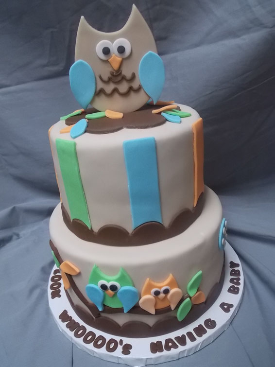 pin owl themed baby shower cake and cuppies on pinterest
