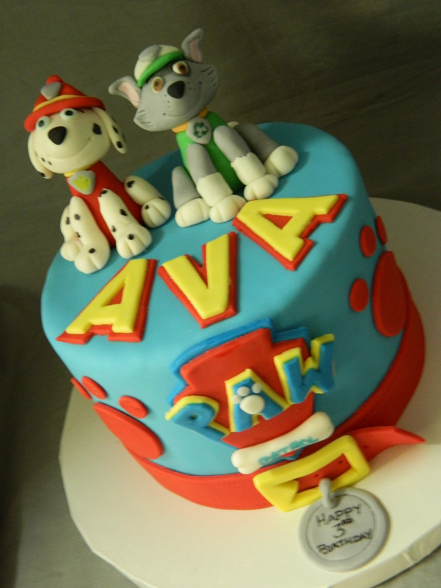 Paw Patrol themed custom cake