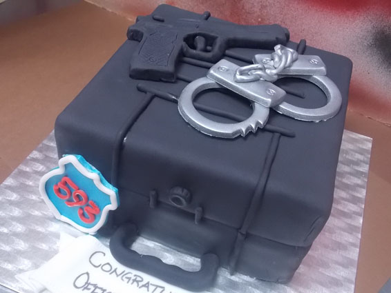 Police themed cake