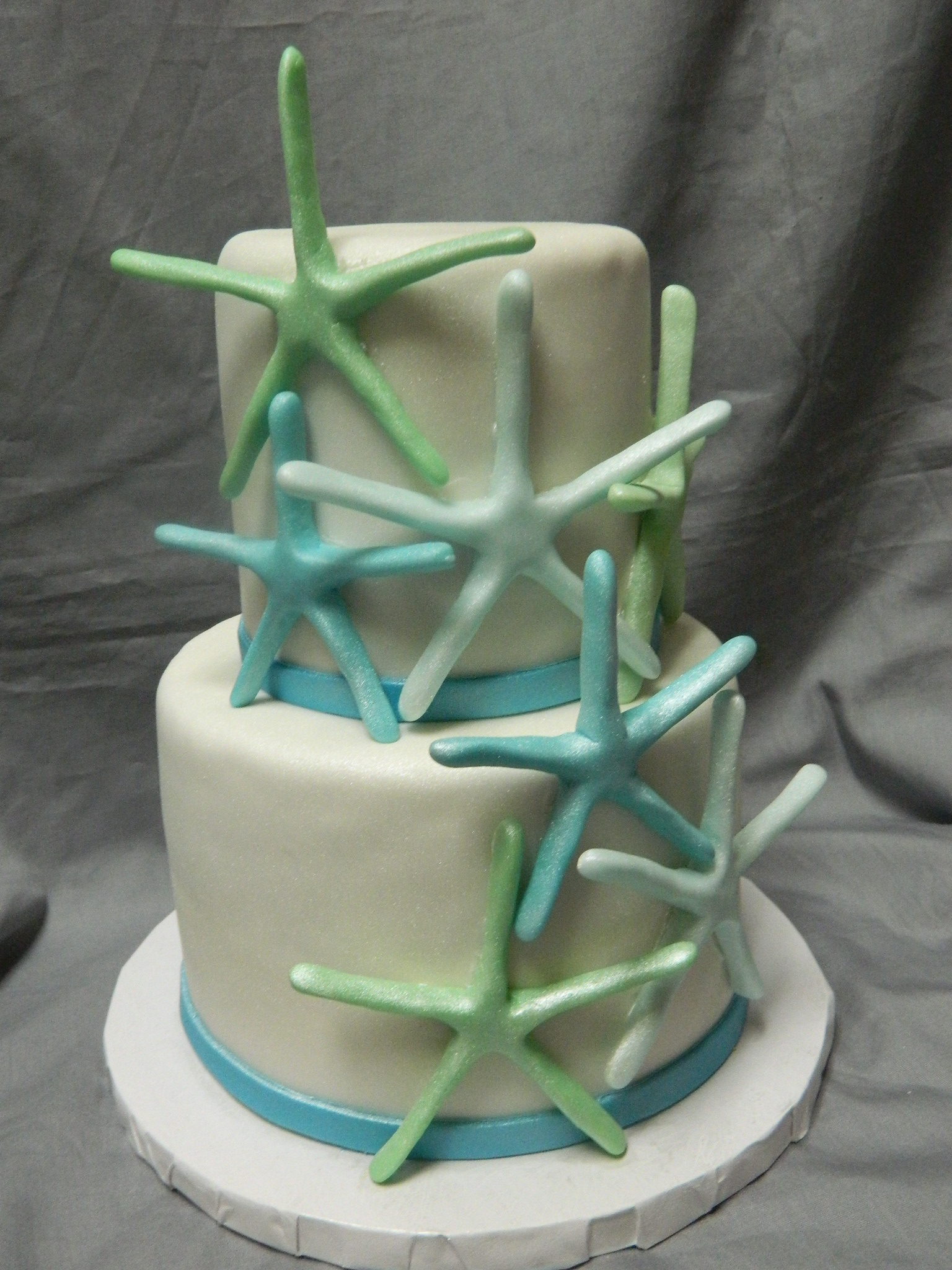 Starfish themed custom cake