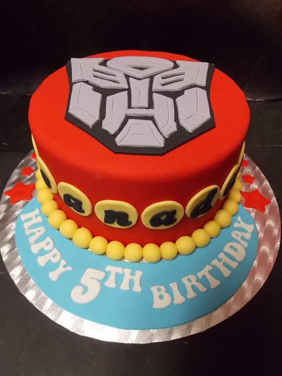 Transformers themed cake