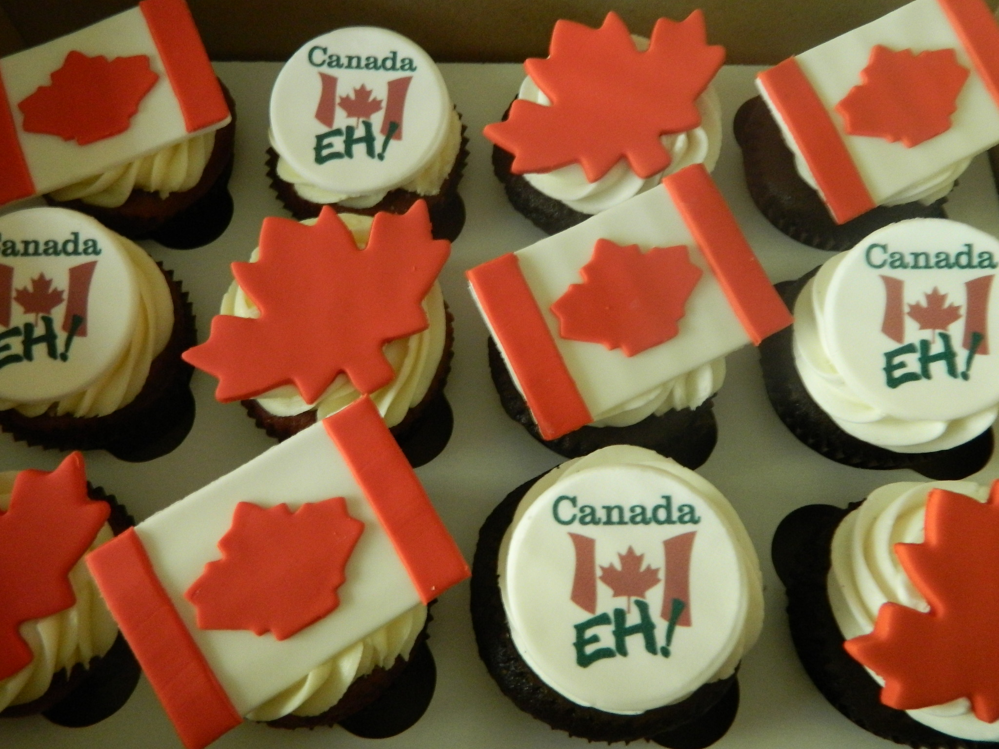 Canadian Pride themed custom cupcakes