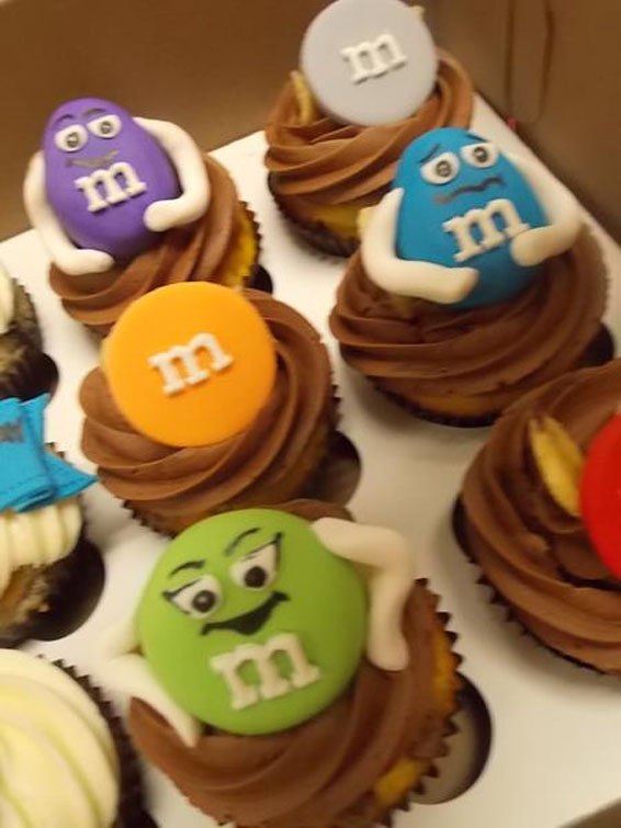M&M Cupcake Toppers