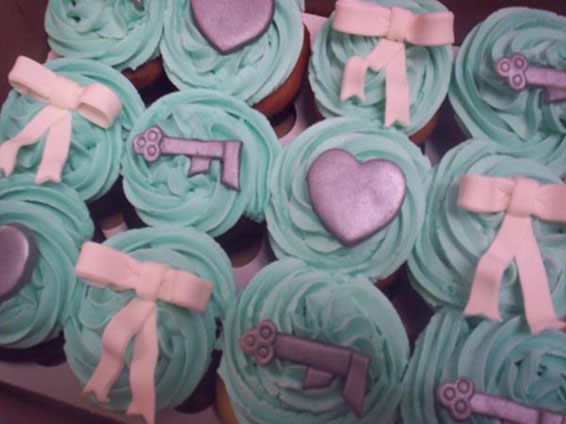 Tiffany Themed Cupcakes