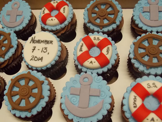 Anchors away custom cupcakes