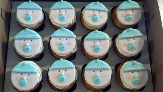 Baby faces custom cupcakes