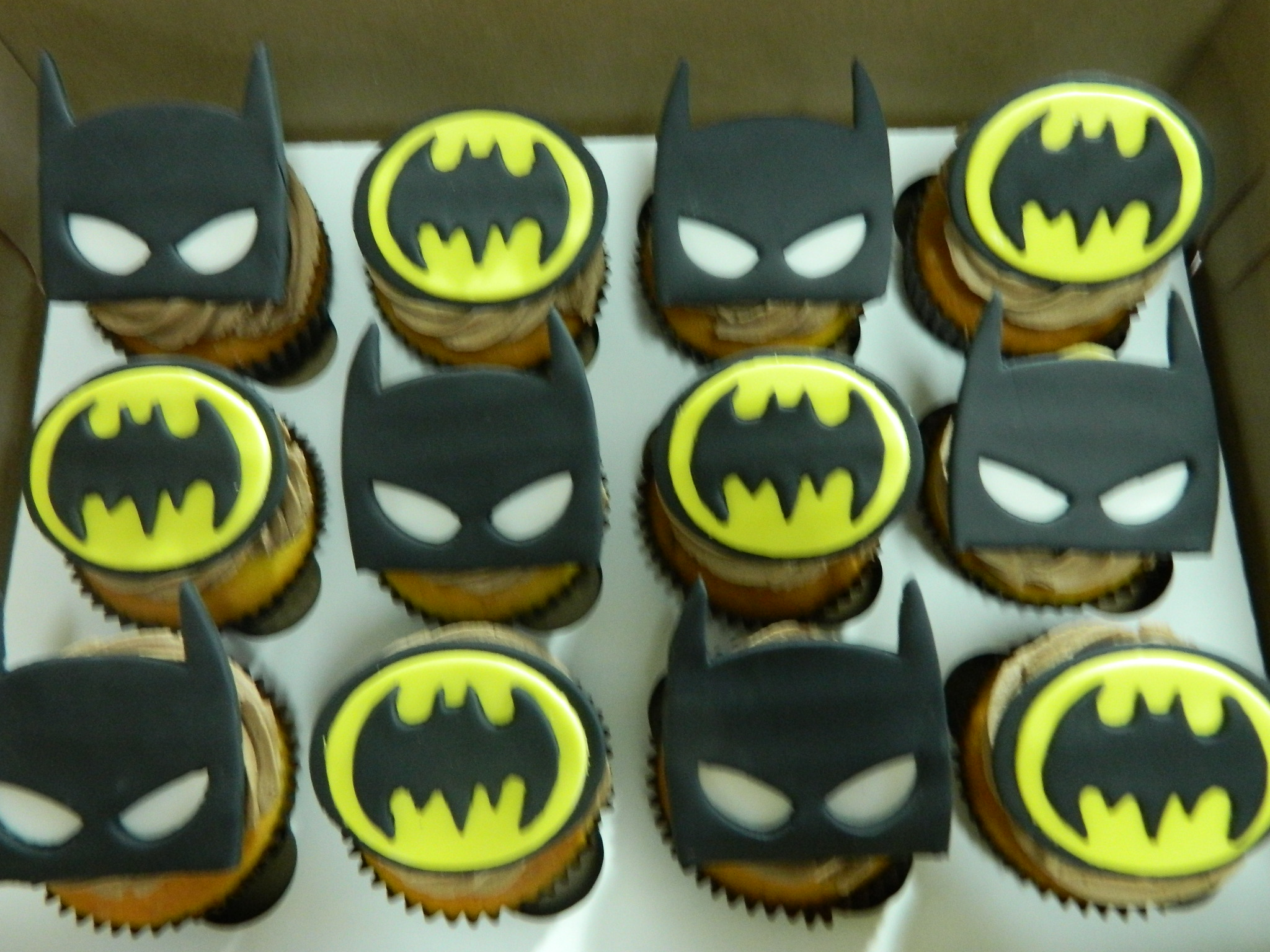 Batman themed custom cupcakes
