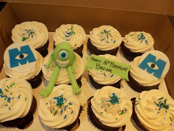 Monsters, Inc.  custom cupcakes