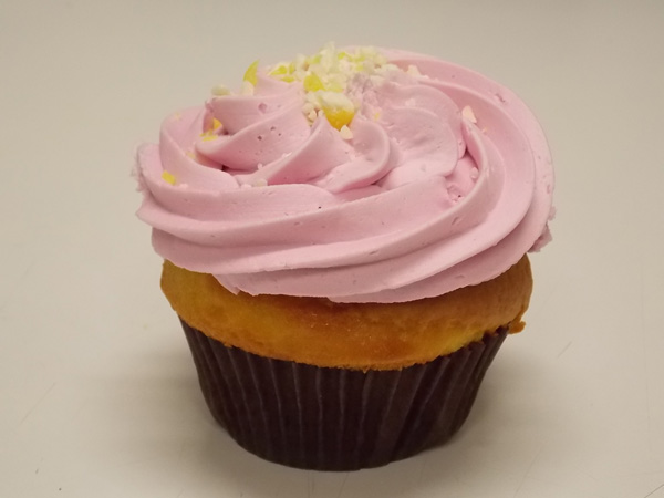 Raspberry Lemonade-Lemon cupcake with raspberry buttercream